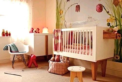 Детская в русском стиле: сказочно уютная комната