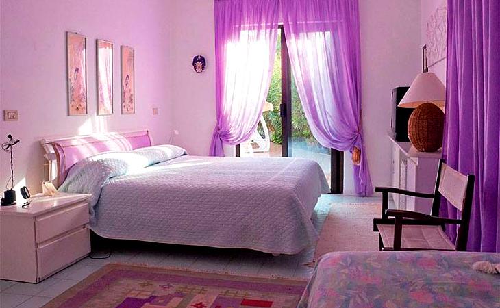 Фиолетовые шторы в интерьере – магия цвета и вкуса