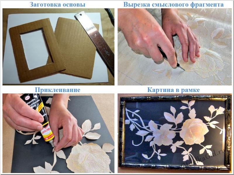 Изготовление картин из обоев – просто и со вкусом