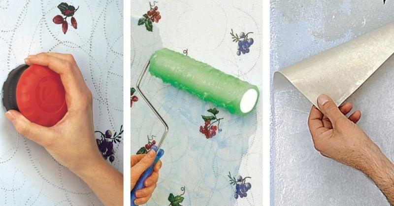 Как быстро снять виниловые обои со стен