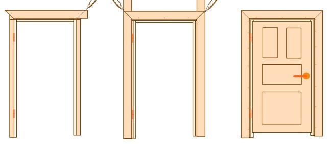 Установка наличников на двери: несколько техник монтажа